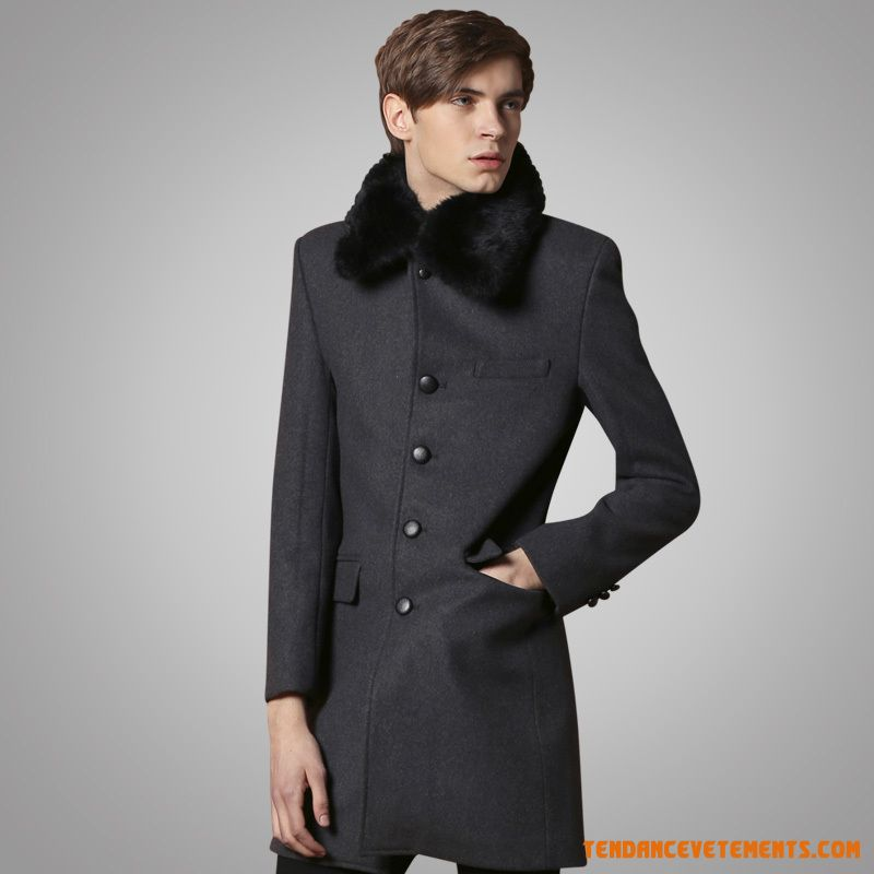 manteau homme noir gris fonc parka slim pas cher en ligne. Black Bedroom Furniture Sets. Home Design Ideas