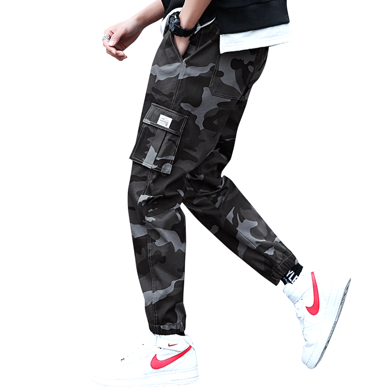 Homme Baggy Sport Cigare Camouflage Cargo Marron