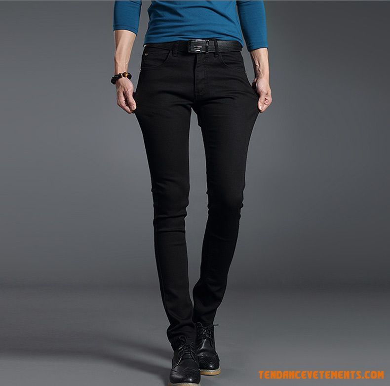 Homme Slim Les Adolescents Denim Printemps Jeans Pensée