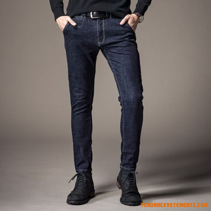 Maigre Homme Printemps Jeans Extensible Tendance Sarcelle France