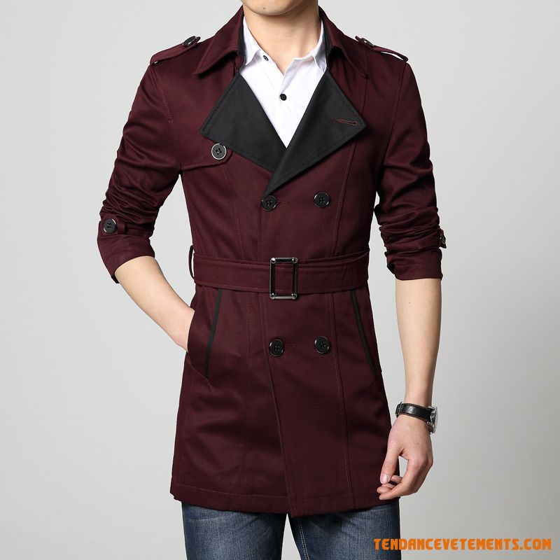 manteau homme noir parka bordeaux slim printemps pas cher. Black Bedroom Furniture Sets. Home Design Ideas
