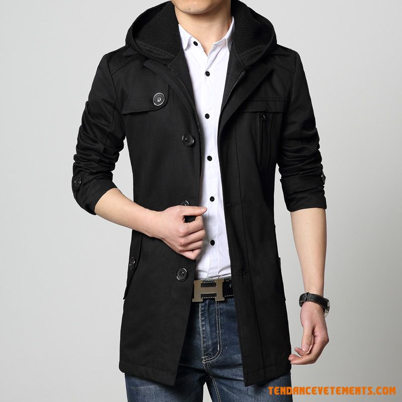 manteau homme noir parka grande taille a capuche pas cher. Black Bedroom Furniture Sets. Home Design Ideas