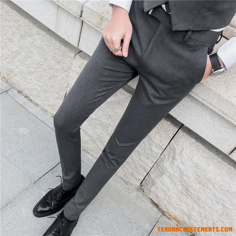 Travail Homme Costume Costume Formel Pantalon Slim Seagreen