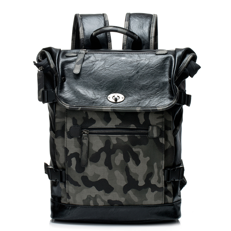 Voyage Camouflage Sac À Dos Tendance Gros Sac Homme Palegoldenrod
